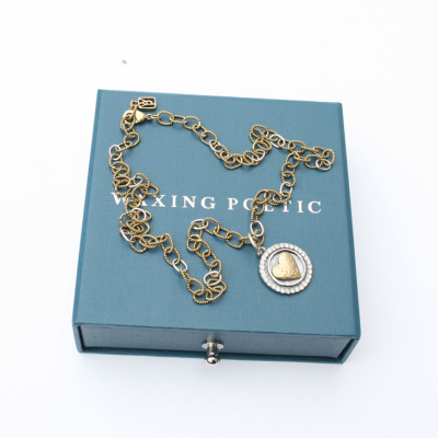 Waxing Poetic medium twisted brass link necklace